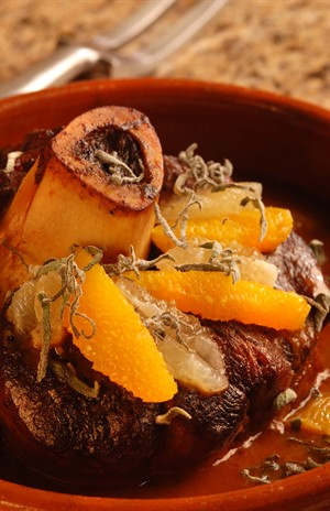 Braised Veal Shanks with Citrus and Sage