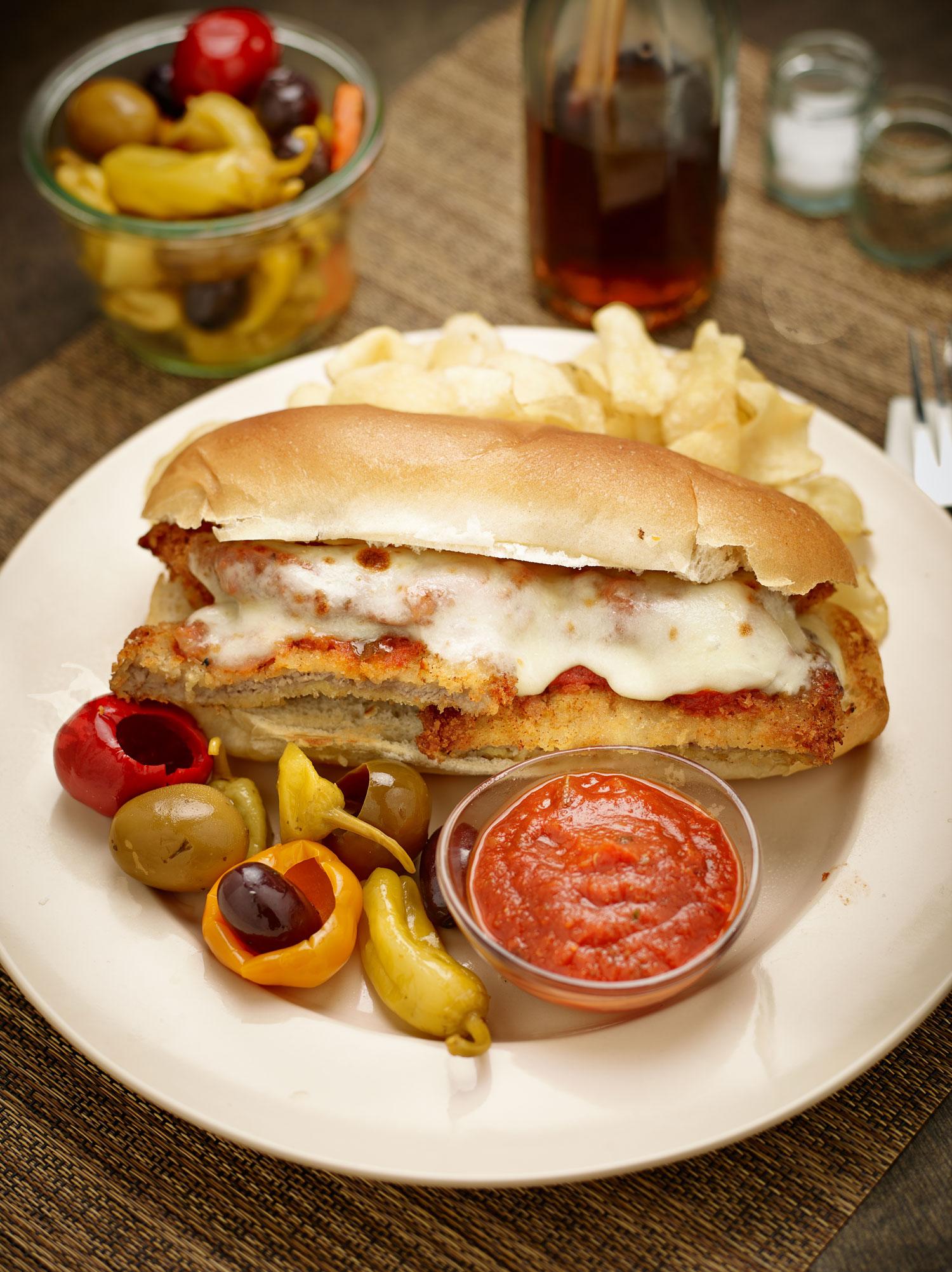 Classic Veal Parmesan Sandwich