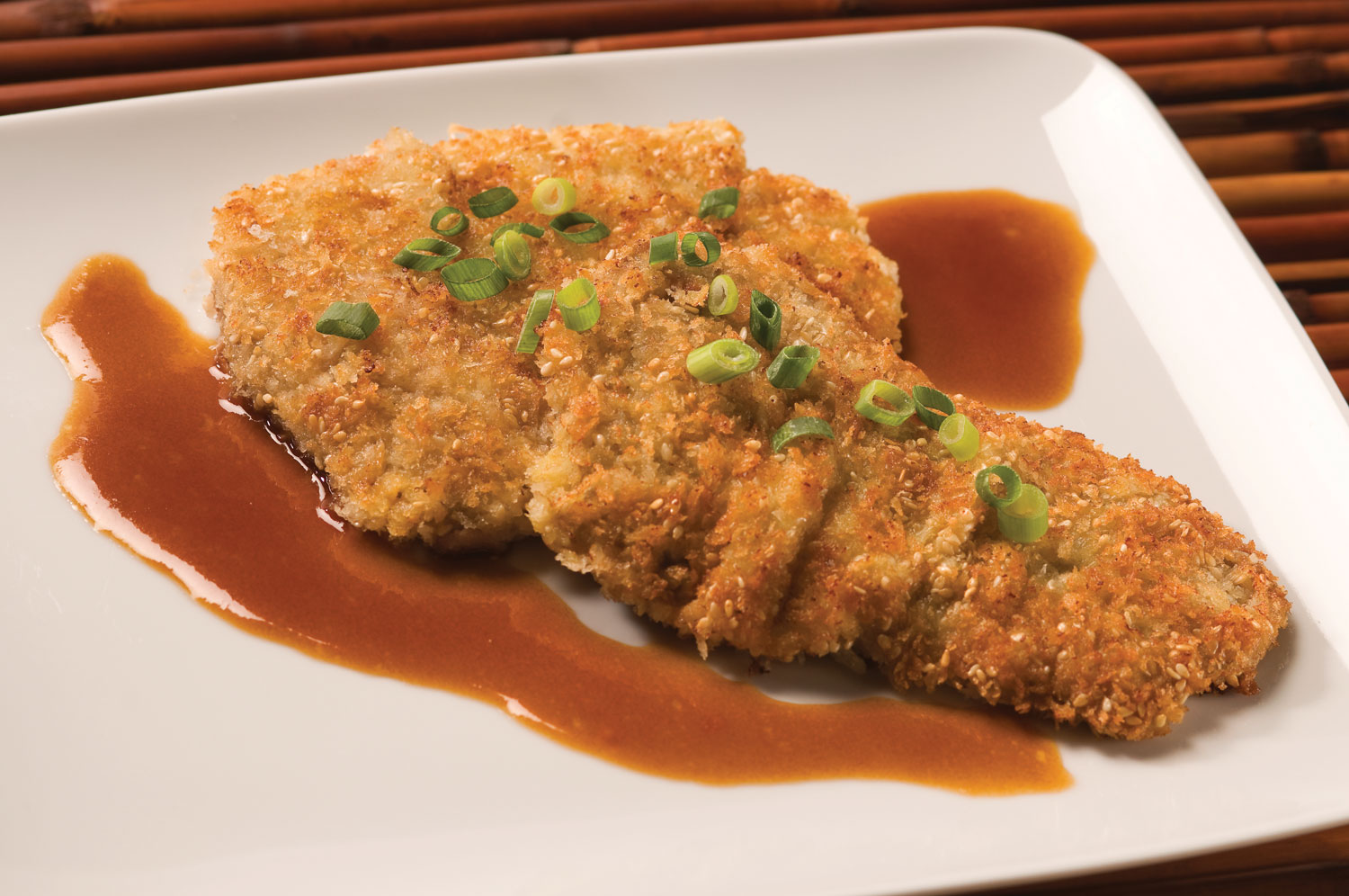 Crispy Sesame Veal with Asian Butter Sauce