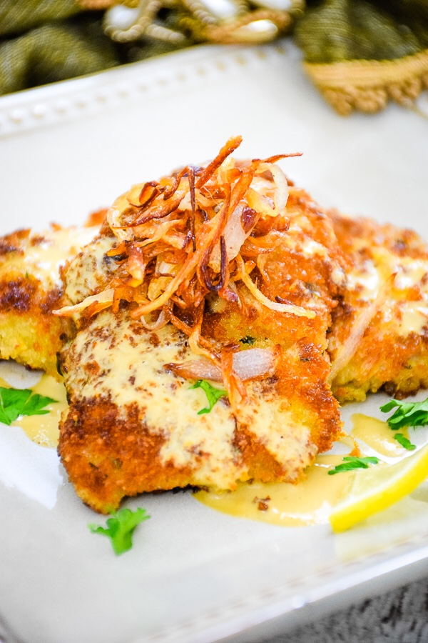 Crispy Veal Cutlets with Creamy Dijon Sauce