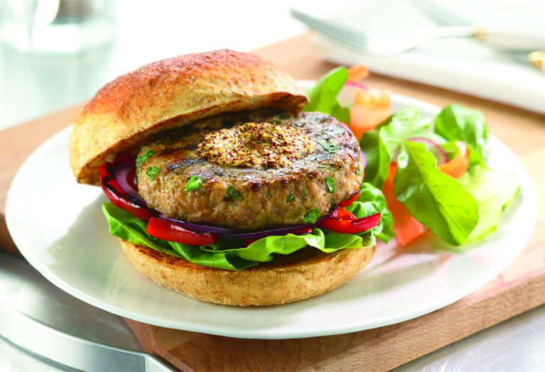 Dijon Veal Burgers