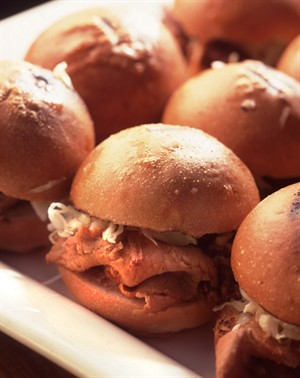 Slow-Cooked Barbecued Shoulder of Veal Sandwiches