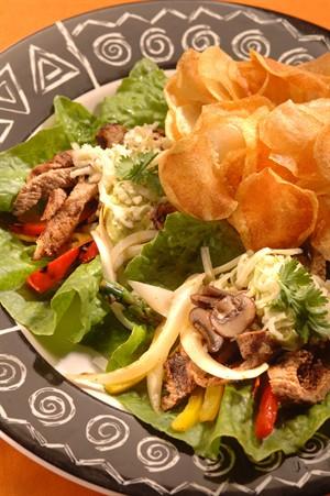 Spicy Fajita Veal Lettuce Wrap