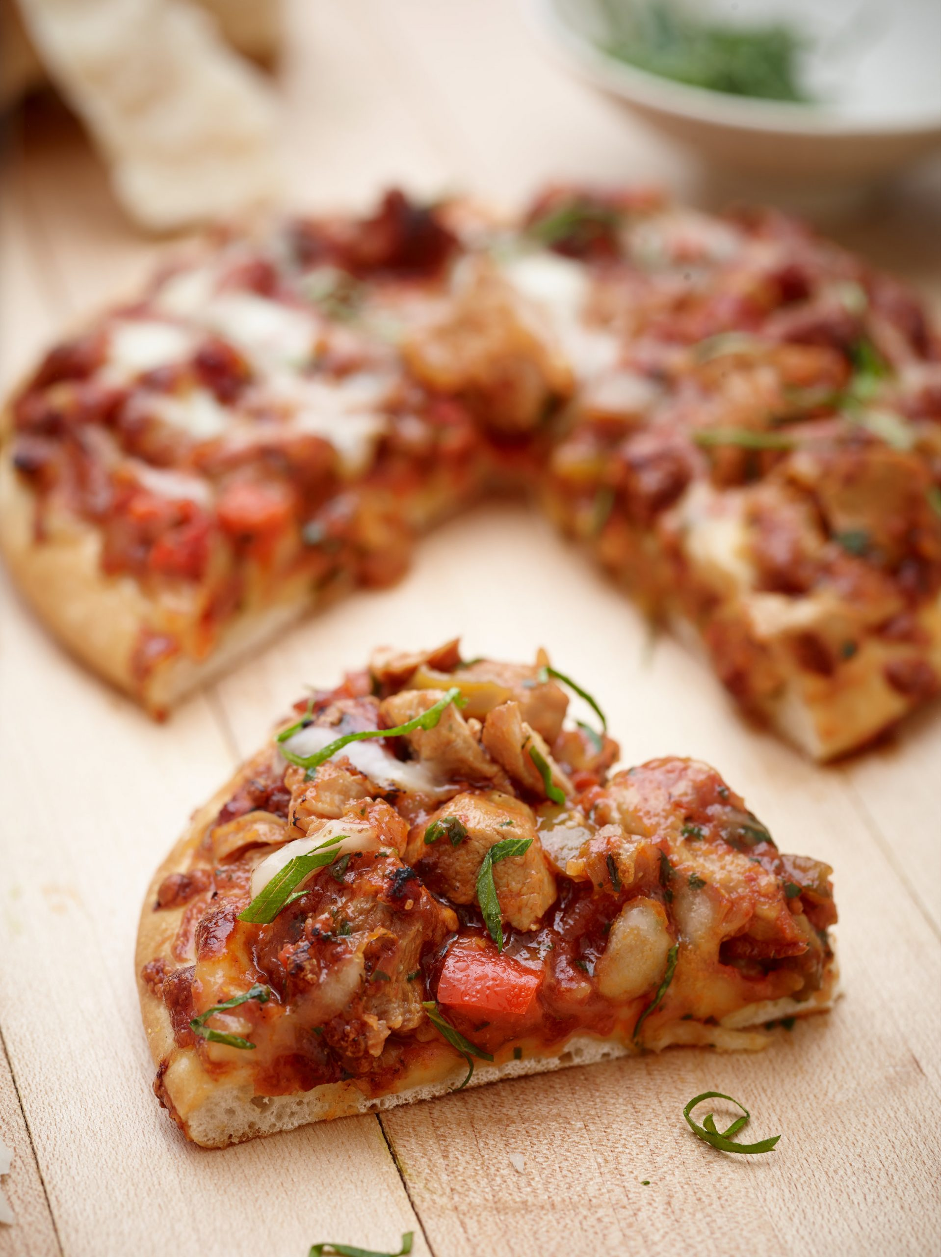 Veal and Pepper Pizza