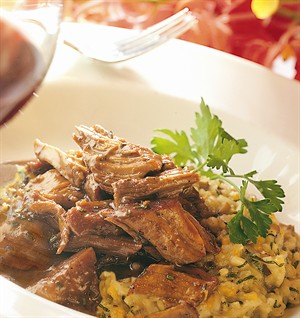 Veal Pot Roast with Butternut Squash Risotto