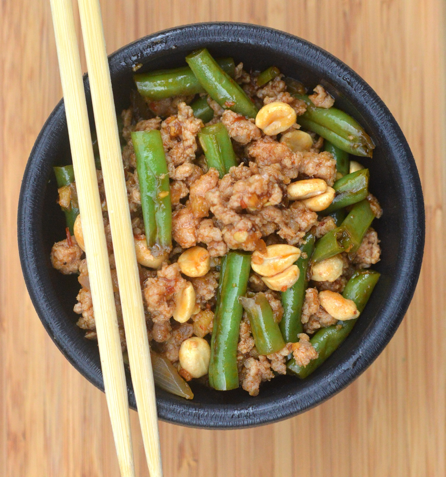 Ground Meat and String Bean Asian Stir Fry