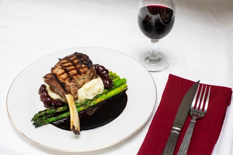 Grilled Veal Chops with Cherry Agrodolce