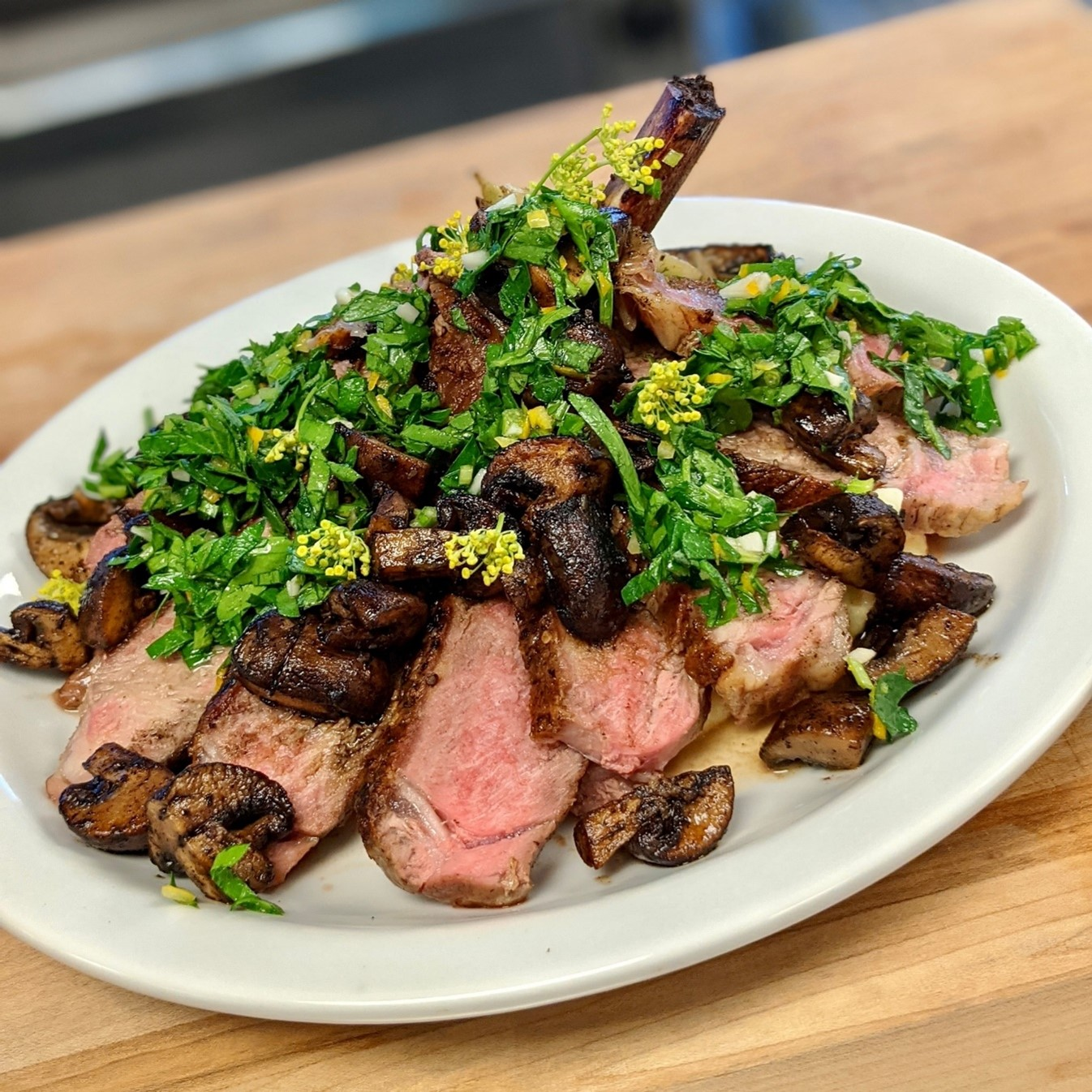 Veal Chops with Wild Mushrooms
