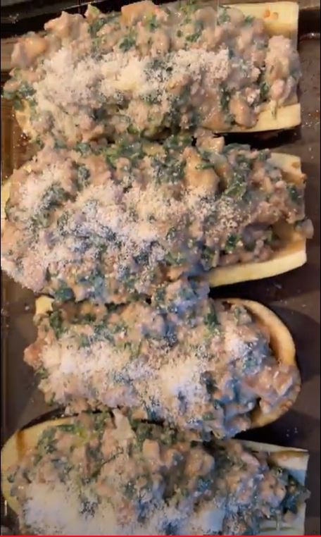 Stuffed Eggplant with Veal and Spinach
