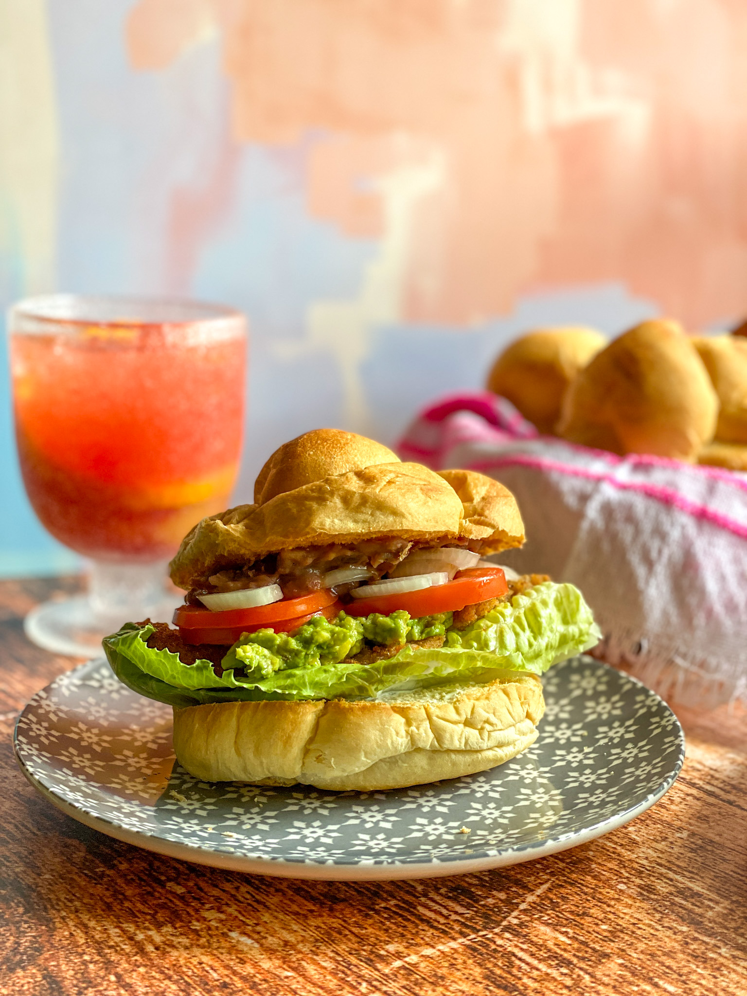 Veal Milanese Sandwich Mexican Style